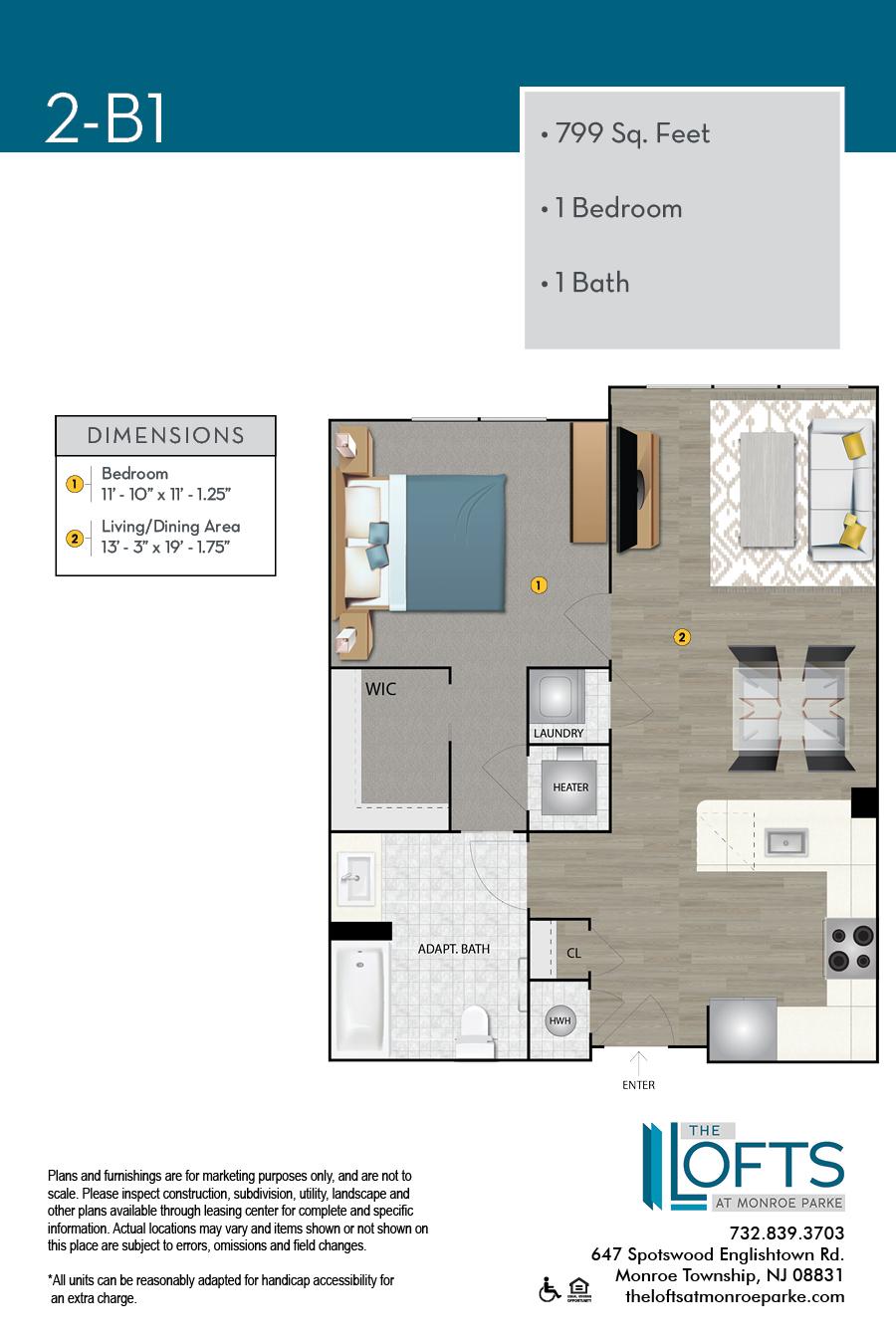 2-B1 Floor Plan