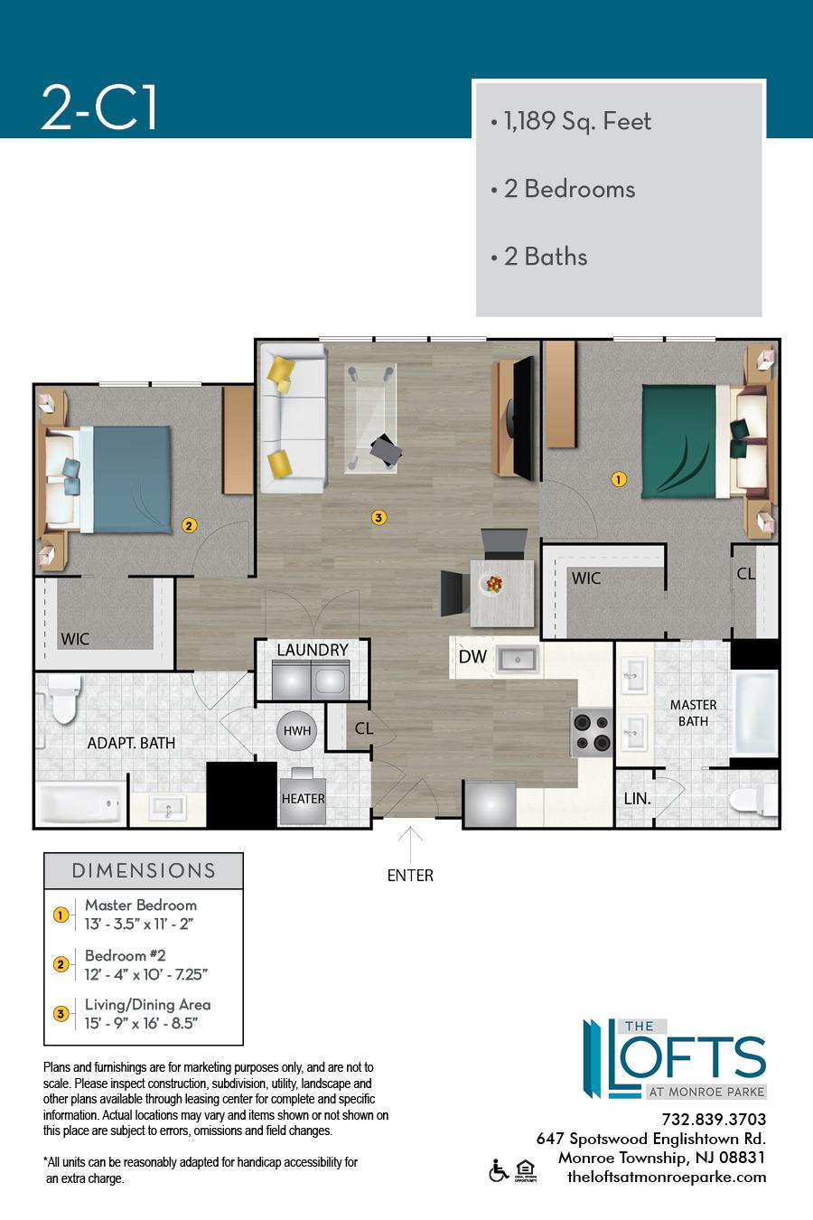 2-C1 Floor Plan