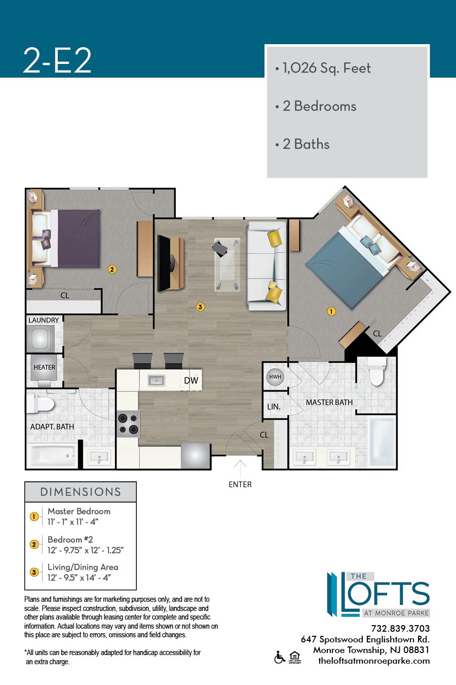 2-E2 Floor Plan